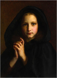 Etienne Adolphe Piot - Girl with a cape