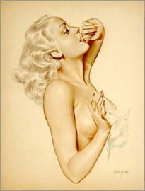 Alberto Vargas - Girl with a Flower