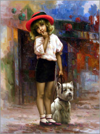 Yoo Choong Yeul - Girl with dog