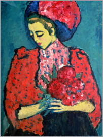 Alexej von Jawlensky - Girl with peonies