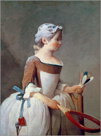 Jean Simeon Chardin - Girl with Racket and Shuttlecock