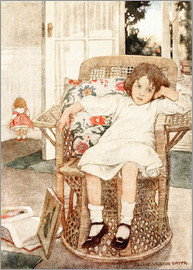 Jessie Willcox Smith - Girl sitting upset in a chair