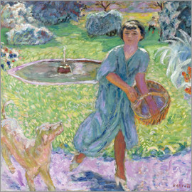 Pierre Bonnard - Girl Playing with a Dog