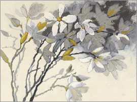 Shirley Novak - Magnolias Yellow Gray