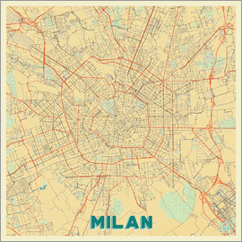 Hubert Roguski - Milan Map Retro