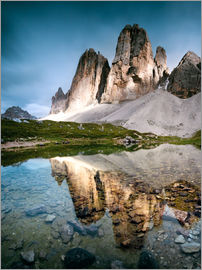 Matteo Colombo - Majestic Three Peaks (Tre Cime di Lavaredo) mountains in the Dolomites, Italy