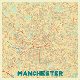 Hubert Roguski - Manchester Map Retro