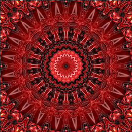 Christine Bässler - mandala red