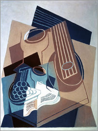 Juan Gris - Mandolin and grapes