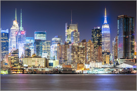 newfrontiers photography - Manhattan Skyline in Neon Colors