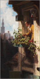 Carl Spitzweg - Man Watering the Window Box