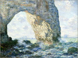 Claude Monet - the manneport rock arch west of etretat