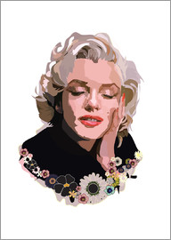 Anna McKay - Marilyn Monroe With Flowers