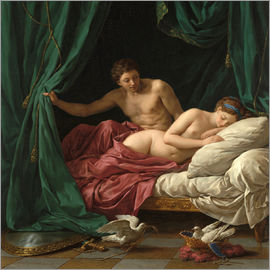 Louis Jean Francois Lagrenee - Mars and Venus an allegory of Peace