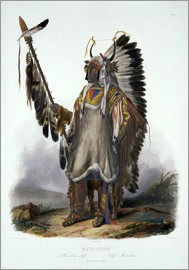 Karl Bodmer - Mato-Tope, a Mandan Chief, plate 13 from Volume 2 of 'Travels in the Interior of North America', eng