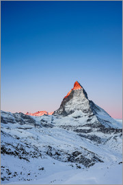 Peter Wey - Matterhorn at sunrise from Riffelberg