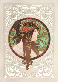 Alfons Mucha - Medallion with oriental woman