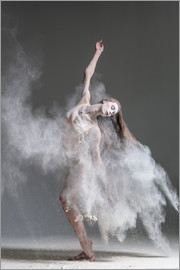 Flour dancer in pose
