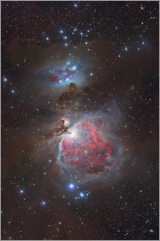 Yuri Zvezdny - Messier 42, The Great Nebula in Orion and NGC 1977, The Running Man Nebula.