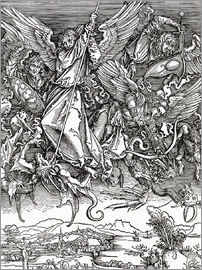 Albrecht Dürer - Michael Slaying the Dragon