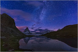 Frank Fischbach - Matterhorn with milky way, Switzerland
