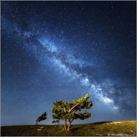 Milky Way - night sky with stars in Crimea