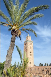 Nico Tondini - Minaret of the Koutoubia Mosque, UNESCO World Heritage Site, Marrakech, Morocco, North Africa, Afric
