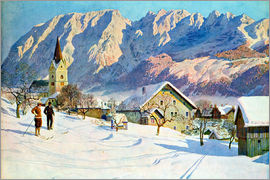 Gustave Jahn - Mitter village in Austria, watercolor