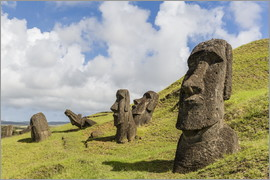 Michael Nolan - Moai sculptures at Rano Raraku