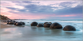 Matteo Colombo - Moeraki boulders at sunset, New Zealand