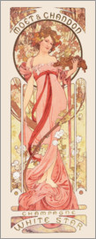 Alfons Mucha - Moet & Chandon, White Star, rose