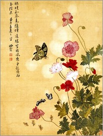 Ma Yuanyu - Poppies and Butterflies