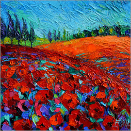 Mona Edulesco - Field of poppies