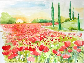 Maria Földy - Field of poppies