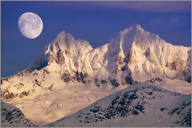 John Hyde - Moon over the Tongass National Forest