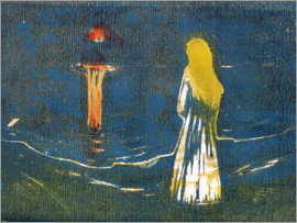 Edvard Munch - Moonlight on the sea