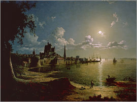 Sebastian Pether - Moonlight Scene, Southampton