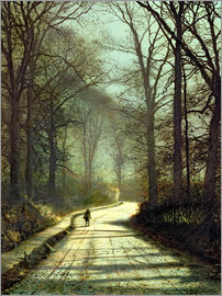 John Atkinson Grimshaw - Moonlight Walk
