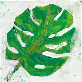 Kellie Day - Monster leaf on white