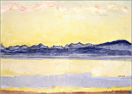 Ferdinand Hodler - Mont Blanc with red clouds