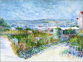 Vincent van Gogh - Montmartre behind the Moulin de la Galette