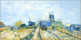 Vincent van Gogh - Montmartre   Mills and Vegetable Gardens