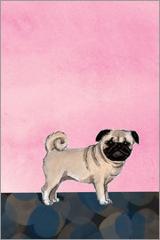 Martine Vuitton-Serape - Pug dog
