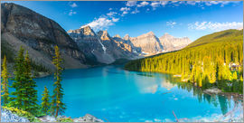 rclassen - Moraine Lake at the morning panorama