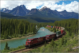 Hans-Peter Merten - Morants Curve, Bow River, Canadian Pacific Railway, near Lake Louise, Banff National Park, UNESCO Wo