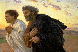 Eugene Burnand - Morning of the resurrection, Peter and John on their way to the grave