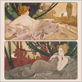 Alfons Mucha - Dawn and Dusk