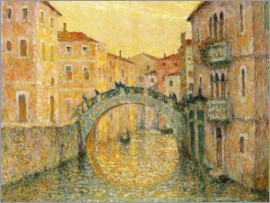 Henri Le Sidaner - Morning sun in Venice