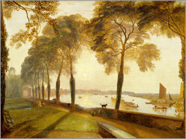 Joseph Mallord William Turner - joseph mallord william turner paintings mortlake terrace the seat of william moffat summers evening