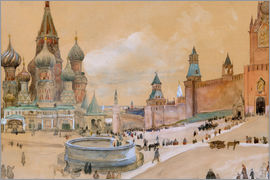Albert Gustaf Aristides Edelfelt - Moscow (Kremlin and St. Basil's Cathedral)
